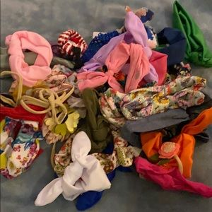 Lot of About 40 Little Girl Bows